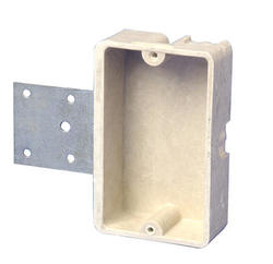 "1-Gang 6"" Fiberglass Box with Bracket"