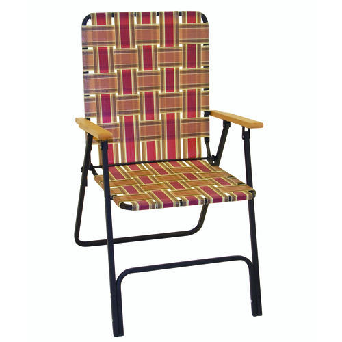 Deluxe Folding Web Chair with Wood Arms at Menards