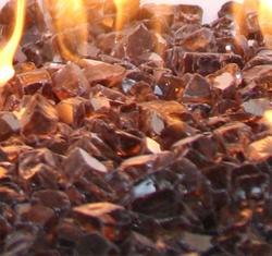 """1/2"""" Copper Reflective Fireglass (10 lbs.)"""