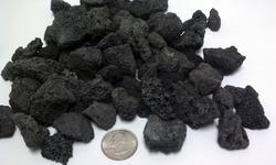 "1/2"" Medium Black Lava Fire Rock for Fire Pits (10 lbs.)"