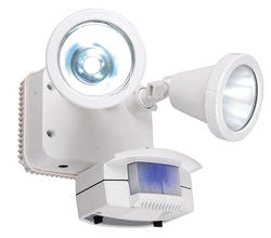 Motion Solar LED Twin Flood Light