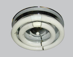 "American Fluorescent 12-1/8"" 2-Light T9 120 Volt Residential Electronic Ballast Circline Open Flush Mount"