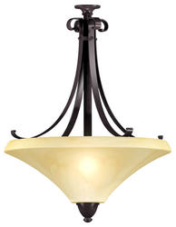 "Swain 16"" Oil-Rubbed Bronze 3-Light 13 Watt GU24 Large Pendant"