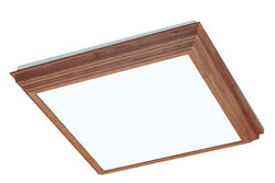 "American Fluorescent 27"" Oak Veneer 2-Light T8 Crown Molding Fluorescent Ceiling Light"