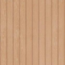 "American Pacific 32"" x 48"" Unfinished Oak 2"" Beaded Veneer Wainscot Panel"