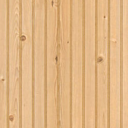 "American Pacific 32"" x 48"" Rustic Pine 2"" Beaded Wainscot Panel"