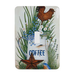 Coffee Steel Toggle Wallplate