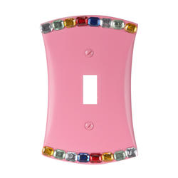 Jewel Pink Resin Toggle Wallplate