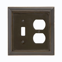Savannah Black Wood 1 Toggle 1 Duplex Wallplate