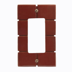 Soho Design Mahogany Wood 1 Rocker Wallplate