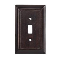 Traditional Dark Walnut Wood Toggle Wallplate