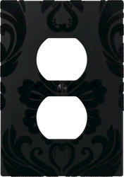 Damask Black Composite 1 Duplex Wallplate