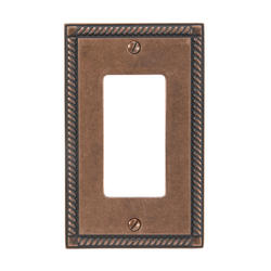 Georgian Rustic Copper Finish Solid Brass 1 Rocker Wallplate