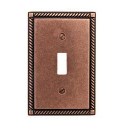 Georgian Rustic Copper Finish Solid Brass Toggle Wallplate