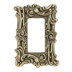 Provincial Antique Brass Cast Metal 1 Rocker Wallplate