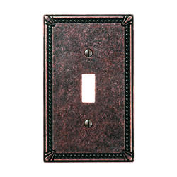 Imperial Bead Cast Metal Aged Bronze Toggle Wallplate