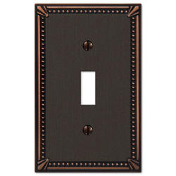 Imperial Bead Aged Bronze Cast Metal 1 Toggle Wallplate