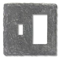 Faux Slate Gray Finish Resin 1 Toggle 1 Rocker Wallplate