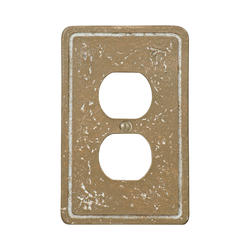 Faux Stone Noche Finish Resin 1 Duplex Wallplate