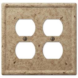 Faux Stone Noce Resin 2 Duplex Wallplate