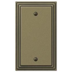 Steps Rustic Brass Cast Metal 1 Blank Wallplate