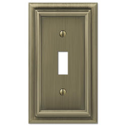 Continental Cast, Brushed Brass Toggle Wallplate