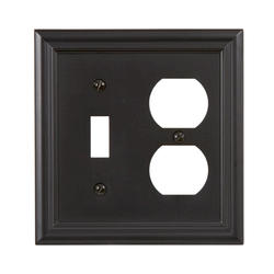 Continental Cast Metal Oil-Rubbed Bronze Toggle Duplex Wallplate