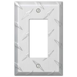 Diamond Plate Aluminum 1 Rocker Wallplate