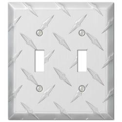 Garage Diamond Cut Design Double Toggle Wallplate