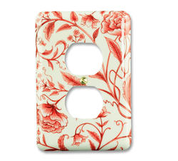 Red Floral Composite 1 Duplex Wallplate