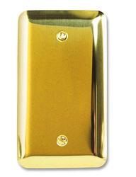 Devon Polished Brass Stamped Steel 1 Blank Wallplate