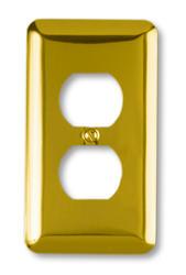Devon Polished Brass Stamped Steel 1 Duplex Wallplate