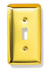 Bright Brass Rounded Corners Toggle Wallplate