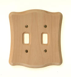 Tavern Unfinished Wood Double Toggle Wallplate