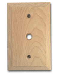 Baker Unfinished Wood 1 Phone Wallplate