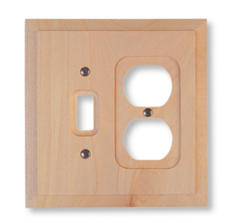 Baker Unfinished Wood 1 Toggle 1 Duplex Wallplate
