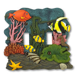 Tropical Fish Double Toggle Wallplate