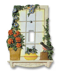 Window Garden Toggle Wallplate