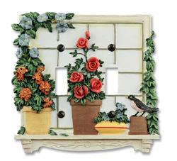 Window Garden Double Toggle Wallplate