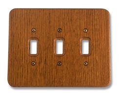 Red Oak Heritage Triple Toggle Wallplate