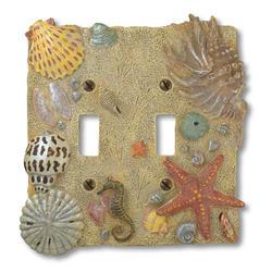 Sea Shell Double Toggle Wallplate