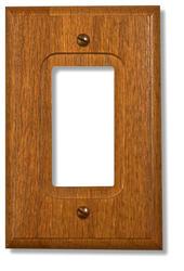 Traditional Red Oak Wood 1 Rocker Wallplate