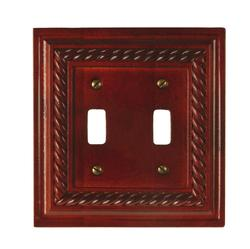 Rope Design Mahogany Double Toggle Wallplate