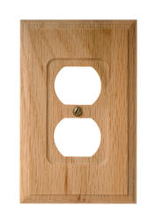 Carson Light Finish Oak Wood 1 Duplex Wallplate