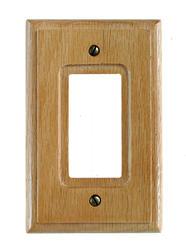 Carson Light Finish Oak Wood 1 Rocker Wallplate