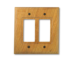 Carson Light Finish Oak Wood 2 Rocker Wallplate