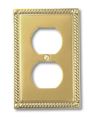 Georgian Solid Brass Double Toggle Wallplate