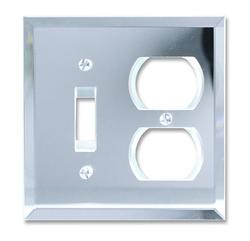 Mirror Clear Acrylic 1 Toggle 1 Duplex Wallplate