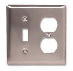 Madison Polished Nickel Solid Brass Cast Metal 1 Toggle 1 Duplex Wallplate