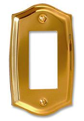Sonoma Polished Brass Solid Brass Stamped 1 Rocker Wallplate